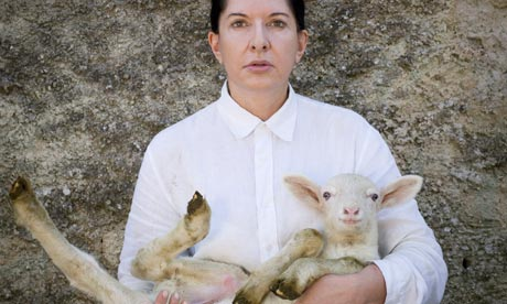 Marina Abramovic with whi 006