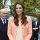Kate Middleton wearing pink walking for cameras